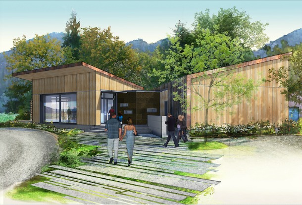 Cowhorn Winery and Garden Rendering