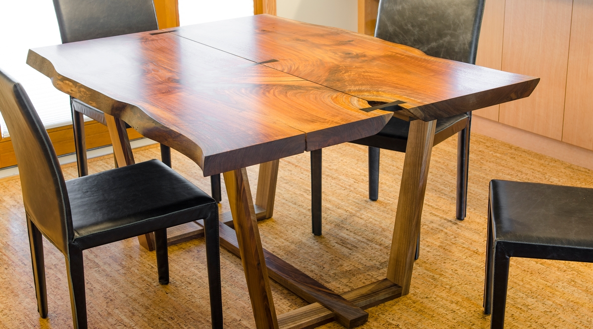 Black walnut table, Ankeny Row