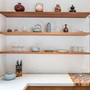 2. Open Madrone Shelves